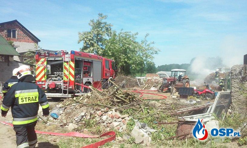 Pożar słomy w Myślątkowie OSP Ochotnicza Straż Pożarna
