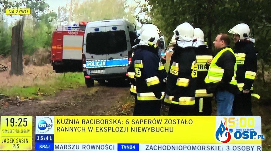 2 saperów zginęło, 4 jest rannych. Nowe fakty po wybuchu w Kuźni Raciborskiej. OSP Ochotnicza Straż Pożarna