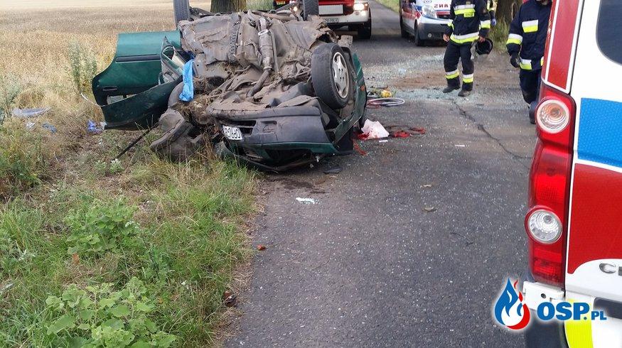 Wypadek na trasie Gostomia-Zabnik OSP Ochotnicza Straż Pożarna