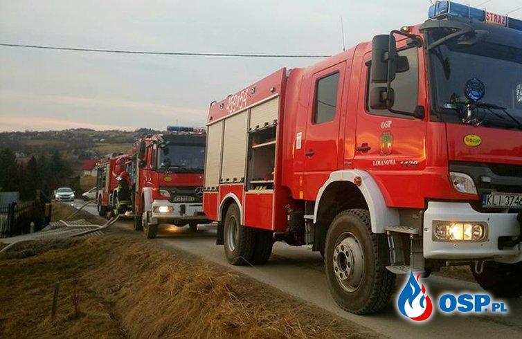 pożar zabudowań gospodarczych OSP Ochotnicza Straż Pożarna