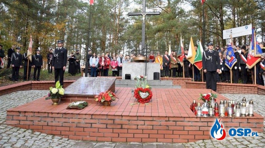 80 rocznica zbrodni hitlerowskiej na Wzgórzach Morzewskich OSP Ochotnicza Straż Pożarna