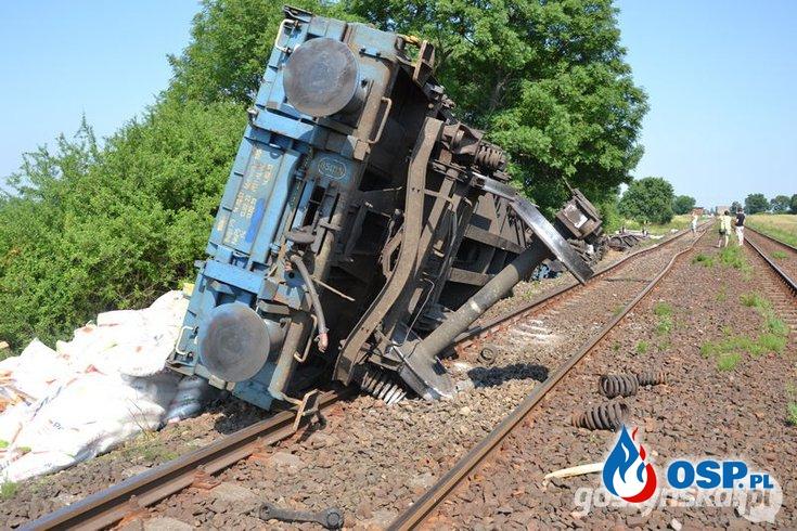Wykoleił się pociąg OSP Ochotnicza Straż Pożarna