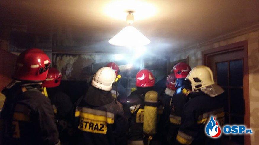 Pożar domu w Księżynie OSP Ochotnicza Straż Pożarna