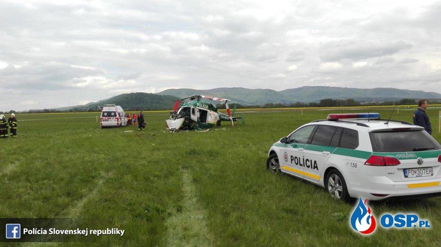 Dwóch strażaków zginęło w katastrofie helikoptera na Słowacji! OSP Ochotnicza Straż Pożarna