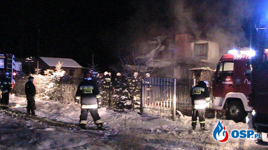 Popowo - pożar garażu OSP Ochotnicza Straż Pożarna