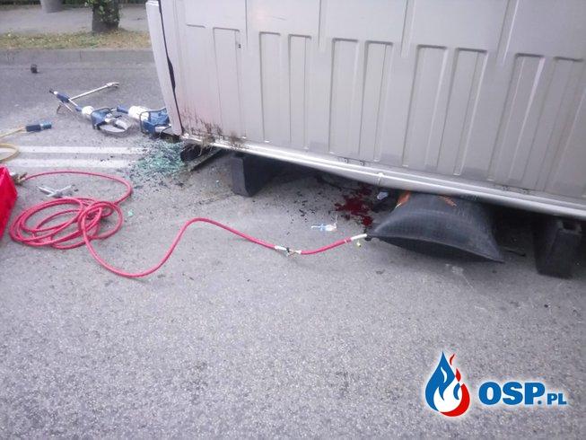 Groźny wypadek w Mątwach (Inowrocław) OSP Ochotnicza Straż Pożarna