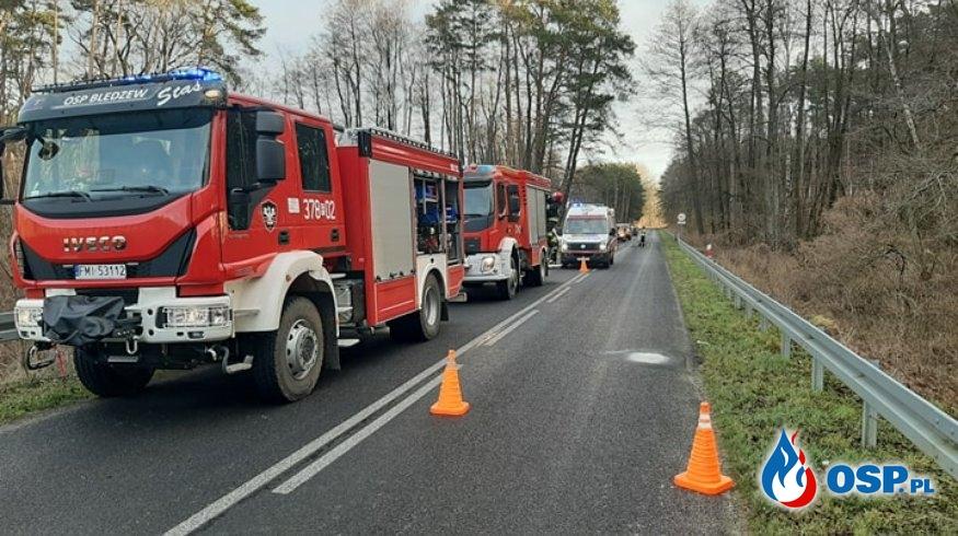 Wypadek na drodze OSP Ochotnicza Straż Pożarna