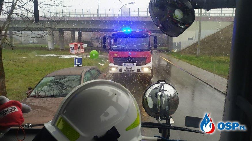 Wypadek na Załężu! OSP Ochotnicza Straż Pożarna