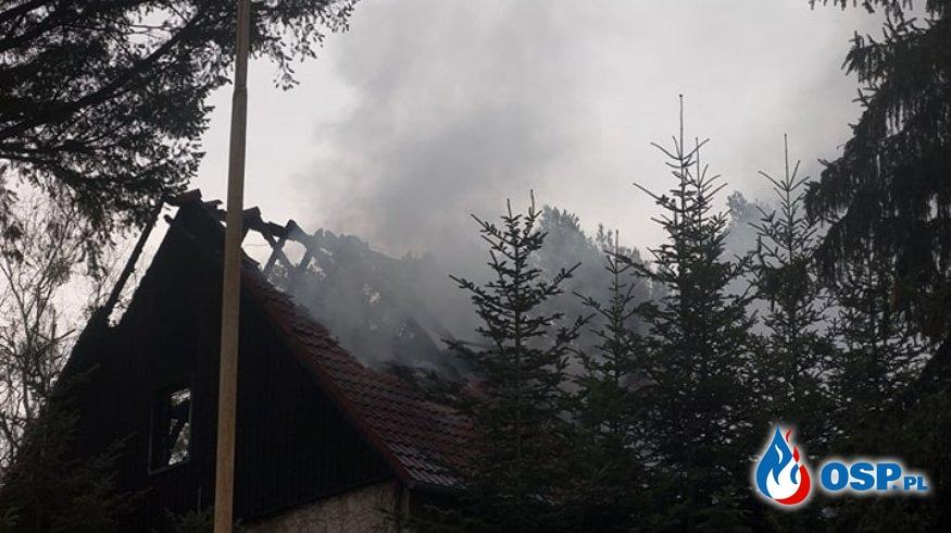 Pożar Kęszycy Leśnej OSP Ochotnicza Straż Pożarna