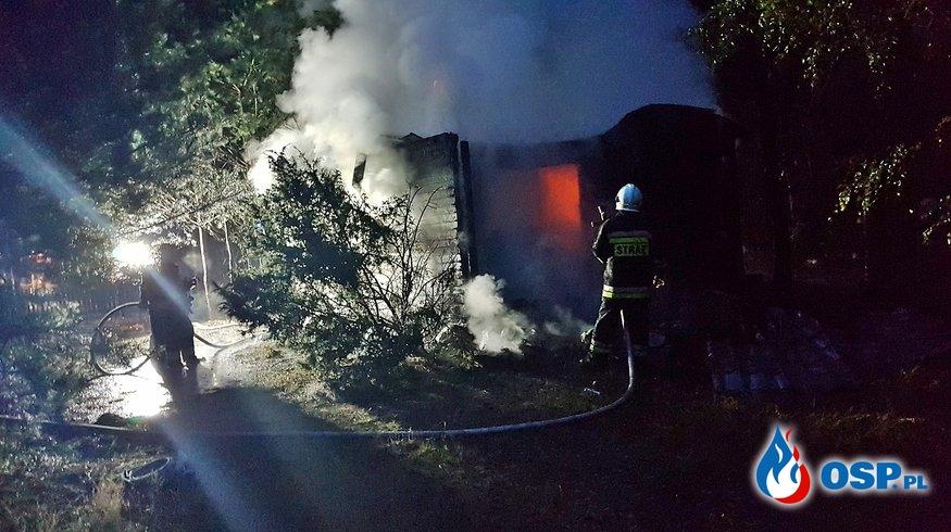 Tragedia na Mazowszu. Dwie osoby zginęły w pożarze domku letniskowego. OSP Ochotnicza Straż Pożarna