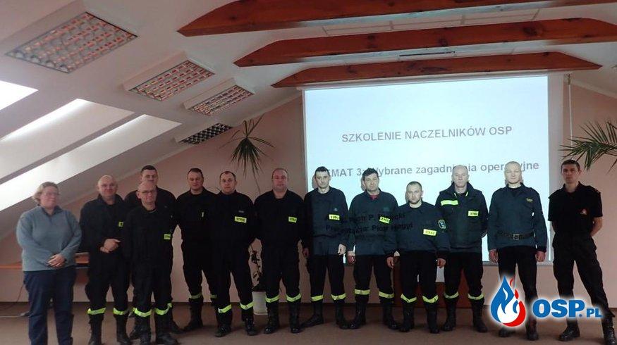 Szkolenie naczelników OSP OSP Ochotnicza Straż Pożarna