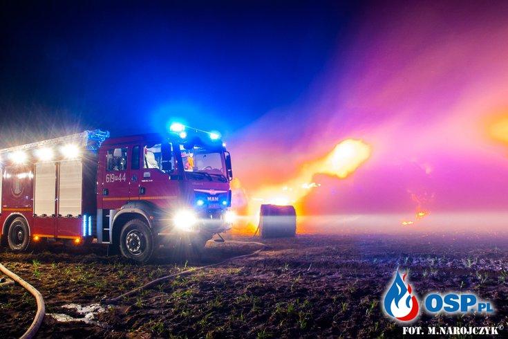 Pożar balotów - zdjęcia pierwsza klasa ! OSP Ochotnicza Straż Pożarna