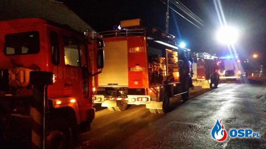 Pożar sadzy w kominie w miejscowości Ligota Bialska OSP Ochotnicza Straż Pożarna