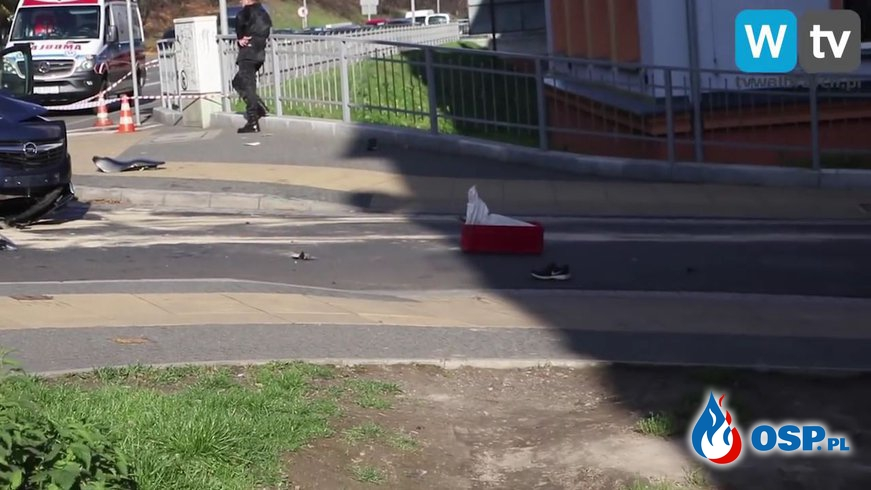 Tragiczny wypadek w Wałbrzychu. Zginął młody motocyklista. OSP Ochotnicza Straż Pożarna