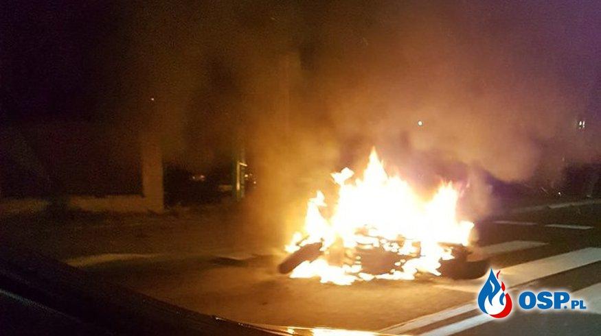 Wypadek dwóch motocykli w Sosnowcu. Jeden z nich stanął w płomieniach! OSP Ochotnicza Straż Pożarna