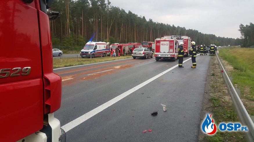 Wypadek drogowy droga S8 OSP Ochotnicza Straż Pożarna