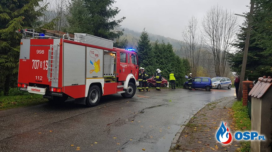 Wypadek niedaleko naszej remizy! OSP Ochotnicza Straż Pożarna