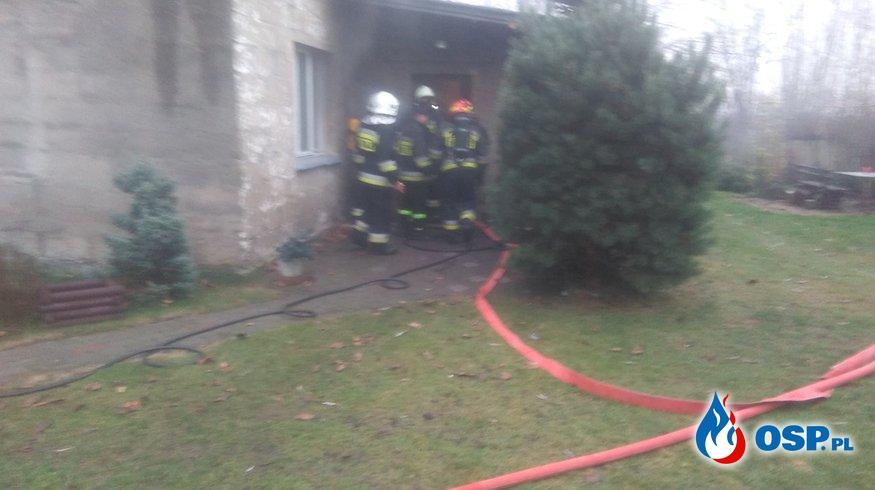 Pożar w budynku mieszkalnym OSP Ochotnicza Straż Pożarna