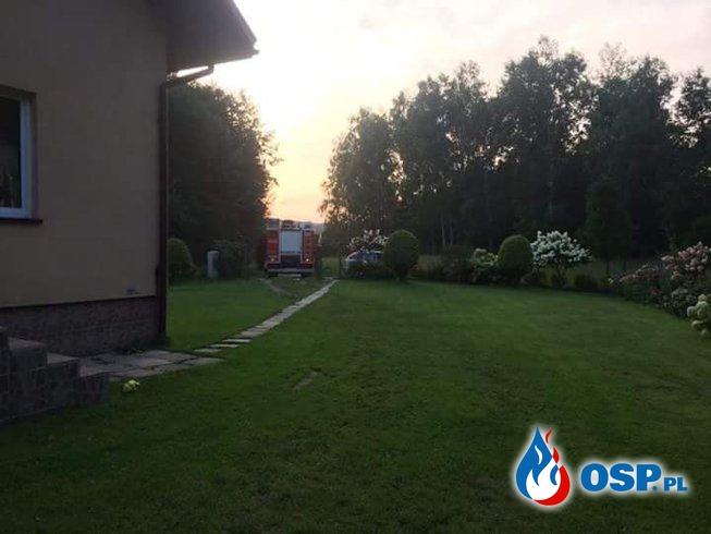Pożar sadzy w Krzywaczce. OSP Ochotnicza Straż Pożarna
