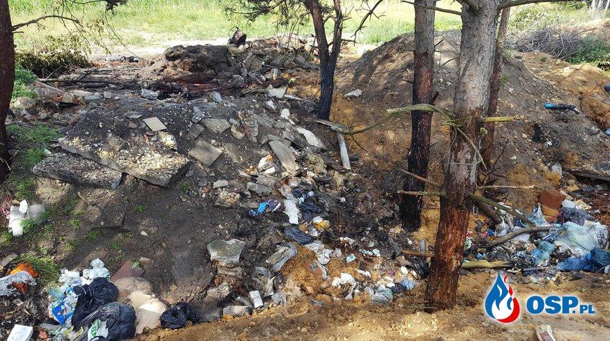Podpalenie przyczyną pożaru na nieużytkach. OSP Ochotnicza Straż Pożarna