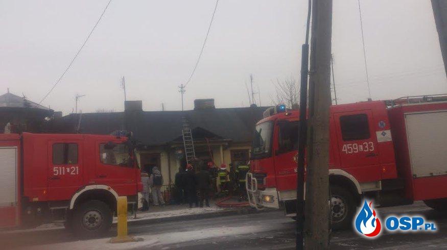 Pożar domu w Kocku OSP Ochotnicza Straż Pożarna