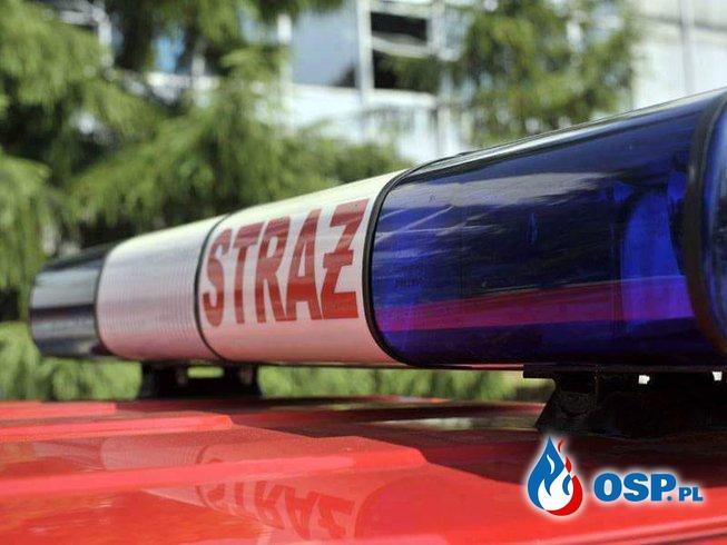 Pożar altanek OSP Ochotnicza Straż Pożarna