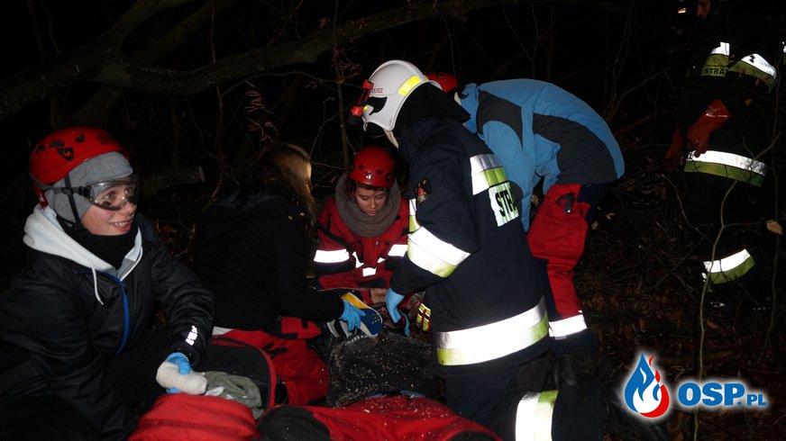 Ćwiczenia ratownicze '' Wypadki podczas prac leśnych'' OSP Ochotnicza Straż Pożarna
