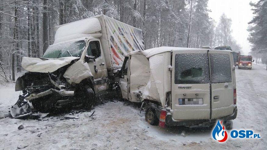 Wypadek na DK nr 8 OSP Ochotnicza Straż Pożarna