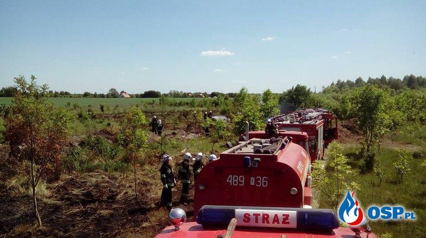 Pożar traw Babice 06.06.2015 OSP Ochotnicza Straż Pożarna