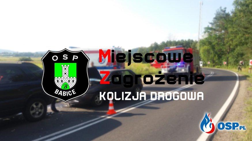 Kolizja drogowa - ul. Zakopiańska w Babicach OSP Ochotnicza Straż Pożarna