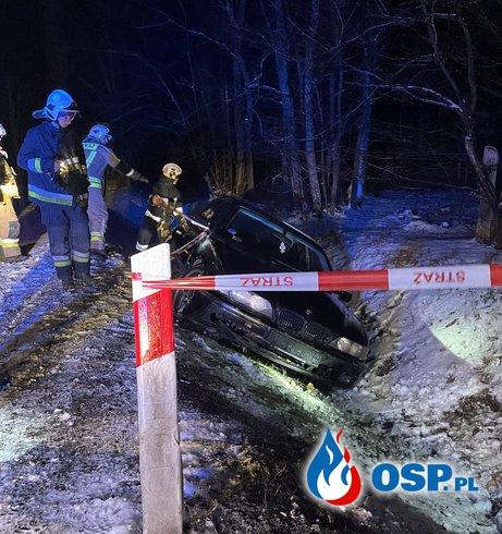 BMW w rowie OSP Ochotnicza Straż Pożarna