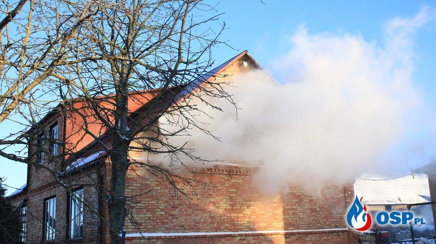 Pożar domu w Bukowie OSP Ochotnicza Straż Pożarna