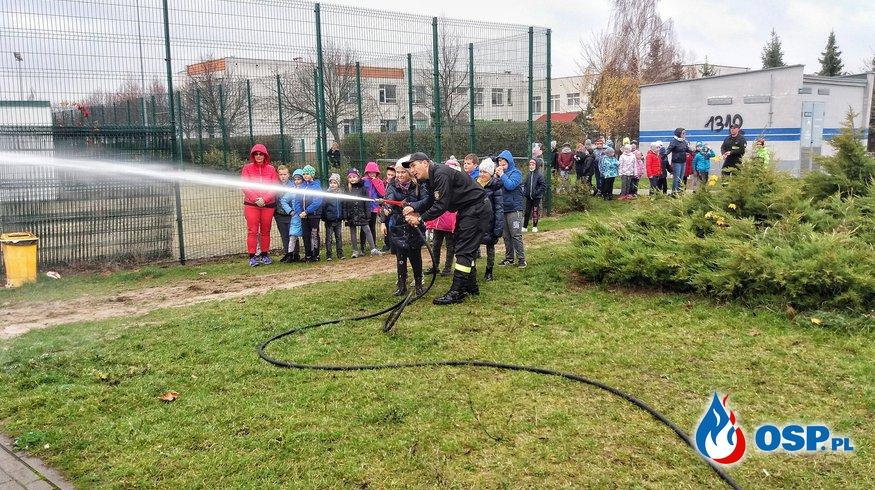 14.11.18 - Zajęcia sportowe o tematyce ratowniczo - pożarniczej w Szkole Podstawowej w Janikowie OSP Ochotnicza Straż Pożarna