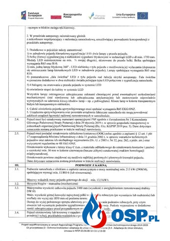 Zapytanie  o cenę w ramach szacowania wartości zamówienia OSP Ochotnicza Straż Pożarna