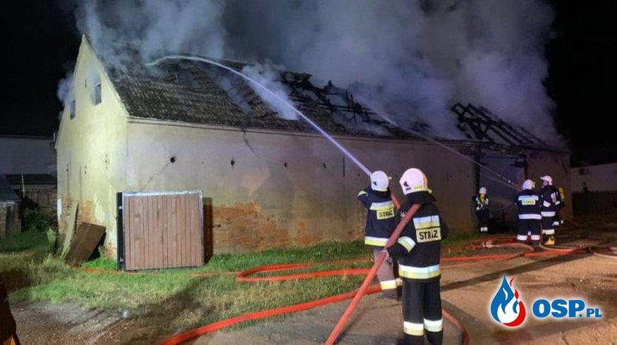Wartosław – pożar stodoły OSP Ochotnicza Straż Pożarna