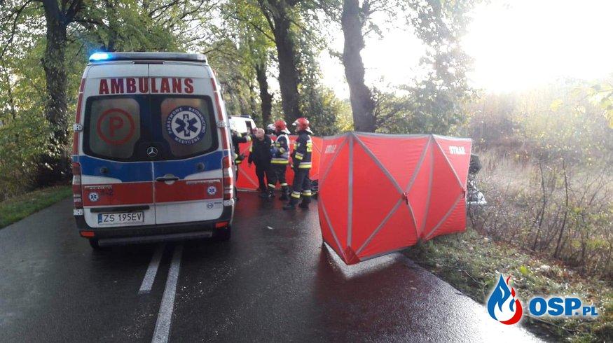 Tragiczny wypadek pod Trzebiatowem OSP Ochotnicza Straż Pożarna