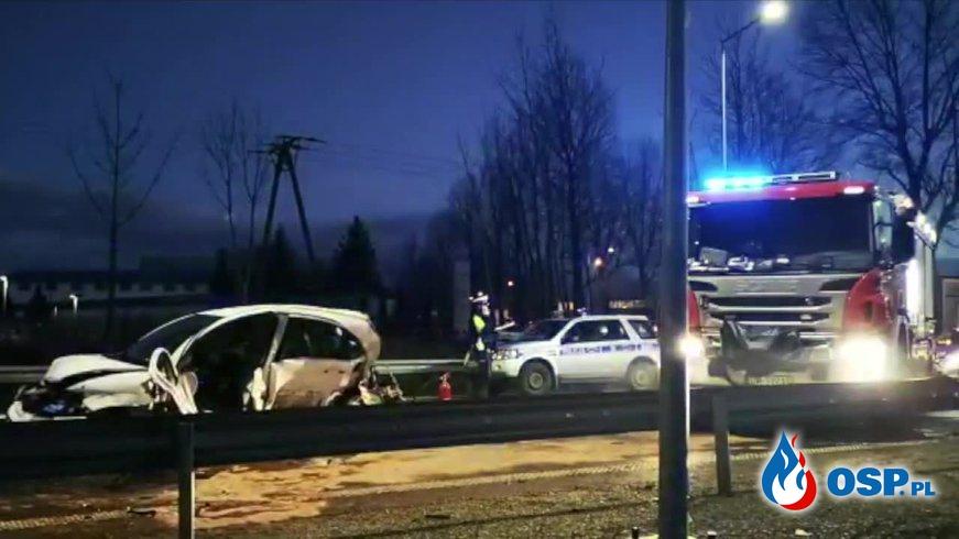 Niemowlę i jego mama zginęli w wypadku w Kłodzku OSP Ochotnicza Straż Pożarna