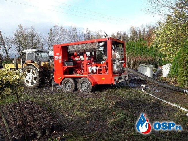 Podtopiona Szkółka Drzew i Krzewów w miejscowości Reszki OSP Ochotnicza Straż Pożarna