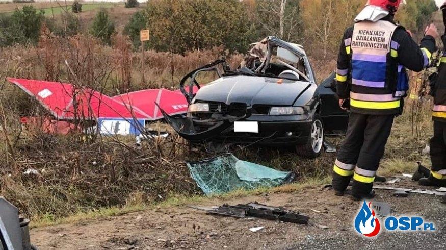 Trzech 19-latków zginęło w zderzeniu seata z cysterną. Makabryczny wypadek w Zawierciu. OSP Ochotnicza Straż Pożarna