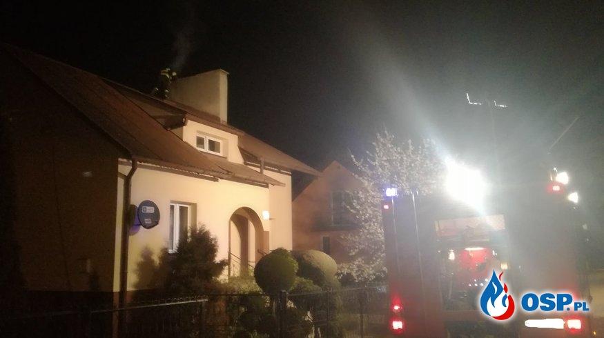 Pożar przewodu kominowego Nowe Miasto OSP Ochotnicza Straż Pożarna