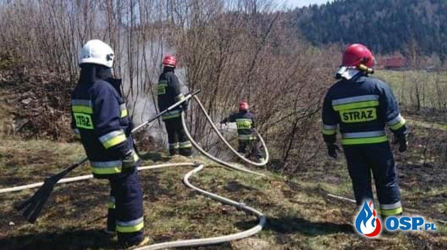 POŻAR SUCHEJ TRAWY OSP Ochotnicza Straż Pożarna