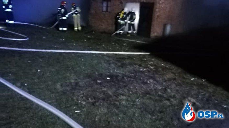 Batkowo - Pożar budynku gospodarczego OSP Ochotnicza Straż Pożarna