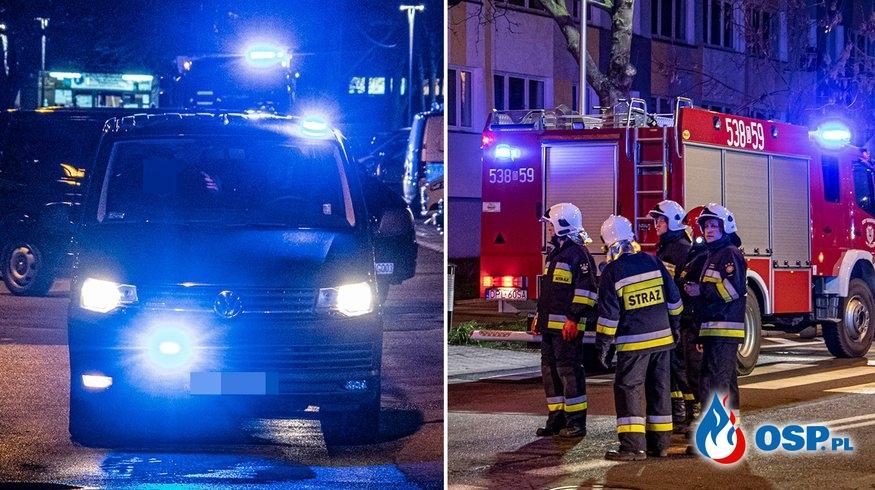 Szaleniec groził wysadzeniem budynku, ewakuowano 600 osób OSP Ochotnicza Straż Pożarna