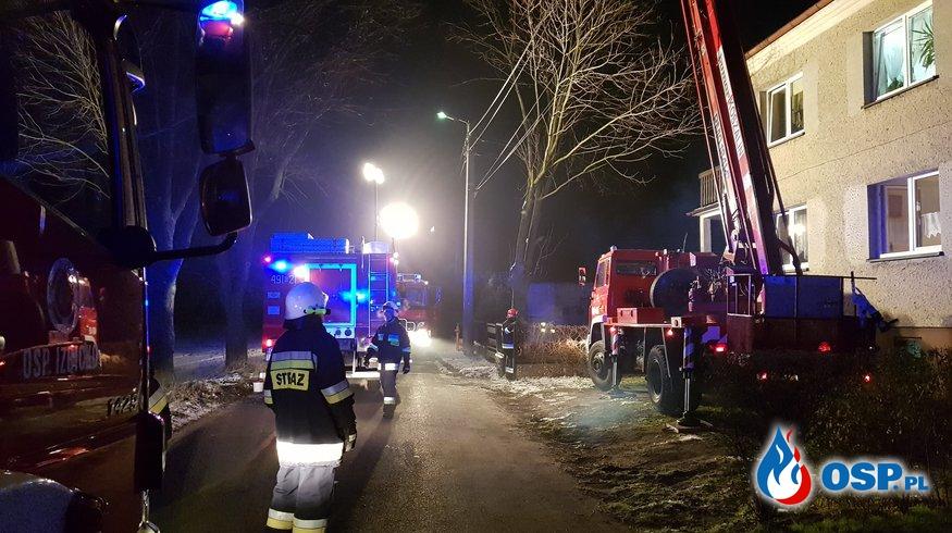 Pożar komina w Suchej OSP Ochotnicza Straż Pożarna