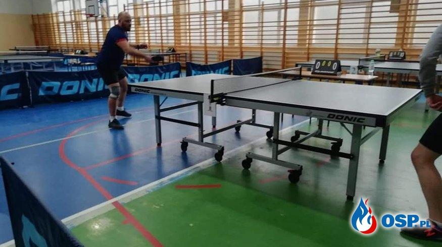 Turniej tenisa stołowego im. Druha Ludwika Kownackiego w Szczytnie OSP Ochotnicza Straż Pożarna