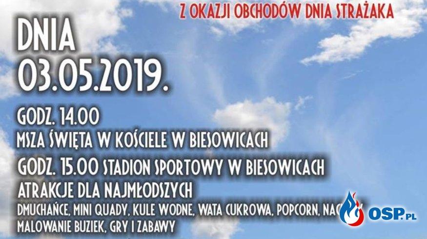 Majówka ze Strażakiem Biesowice 03.05.2019r. OSP Ochotnicza Straż Pożarna