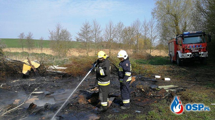 Pożar śmieci OSP Ochotnicza Straż Pożarna