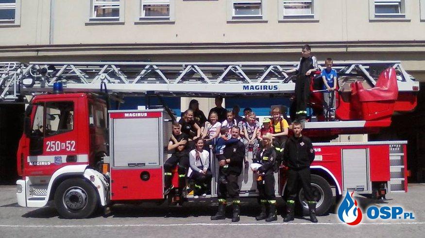Wizyta u strażaków z JRG SA PSP Kraków OSP Ochotnicza Straż Pożarna
