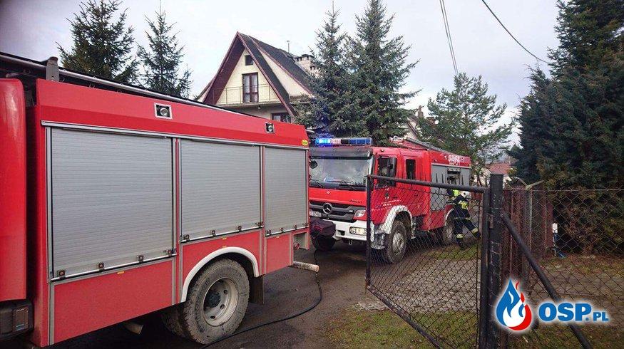 pożaru sadz w kominie OSP Ochotnicza Straż Pożarna