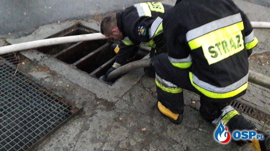 Czyszczenie przepustów OSP Ochotnicza Straż Pożarna